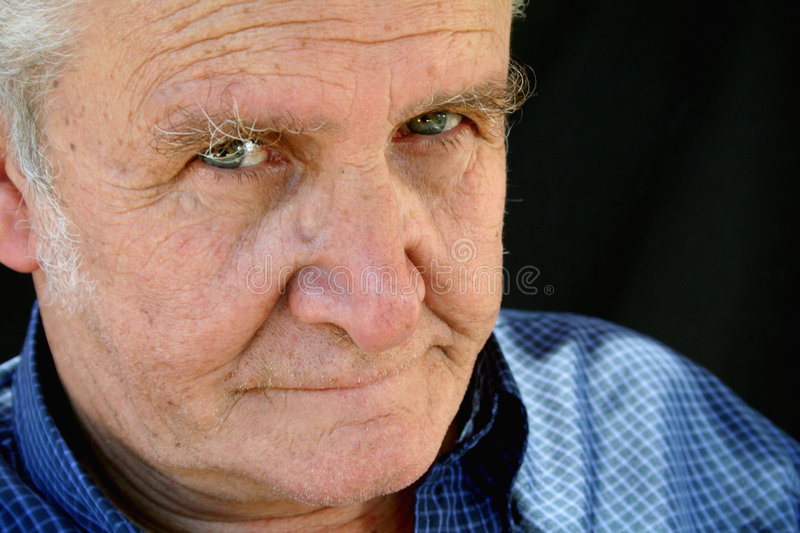 That Look. Senior male with a serious look royalty free stock photography