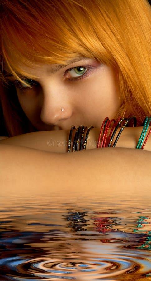 Download Look stock image. Image of makeup, aqua, beautiful, girl - 5942065