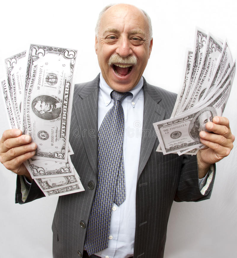 Look At All My Money! stock image