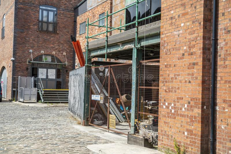 A look around the new working Coronation Street Set. This is the live working set used from 2018in the television series Coronation Street stock images