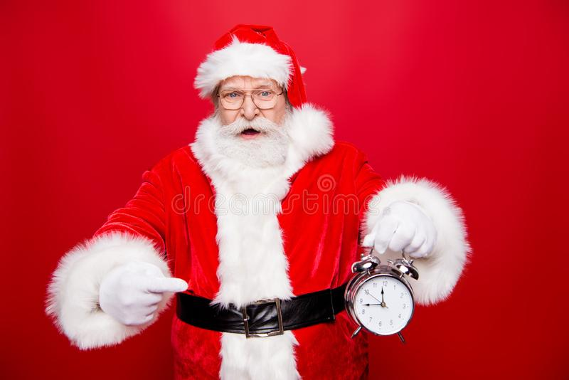 Look attention! Wee can miss festive event party! Worried terrif stock photos