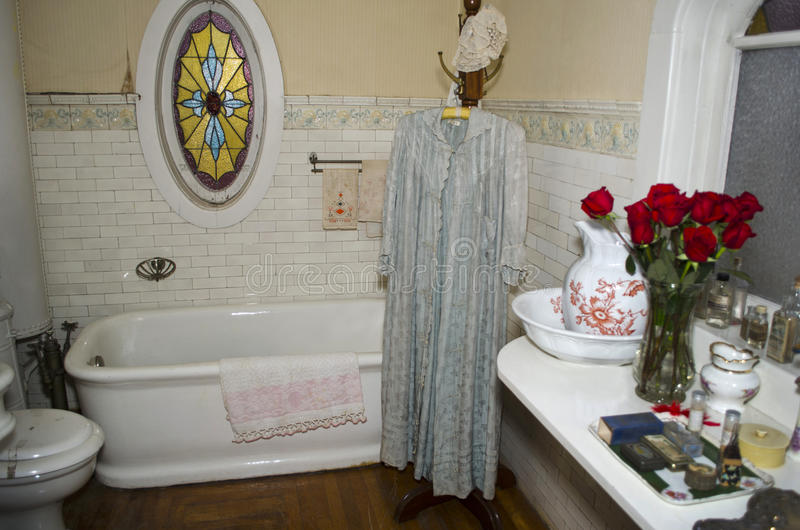 Antique bathroom royalty free stock images