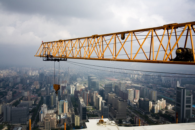 Download Look Down. Crane And Hook Stock Images - Image: 7284354