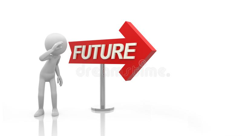 Look at the future vector illustration