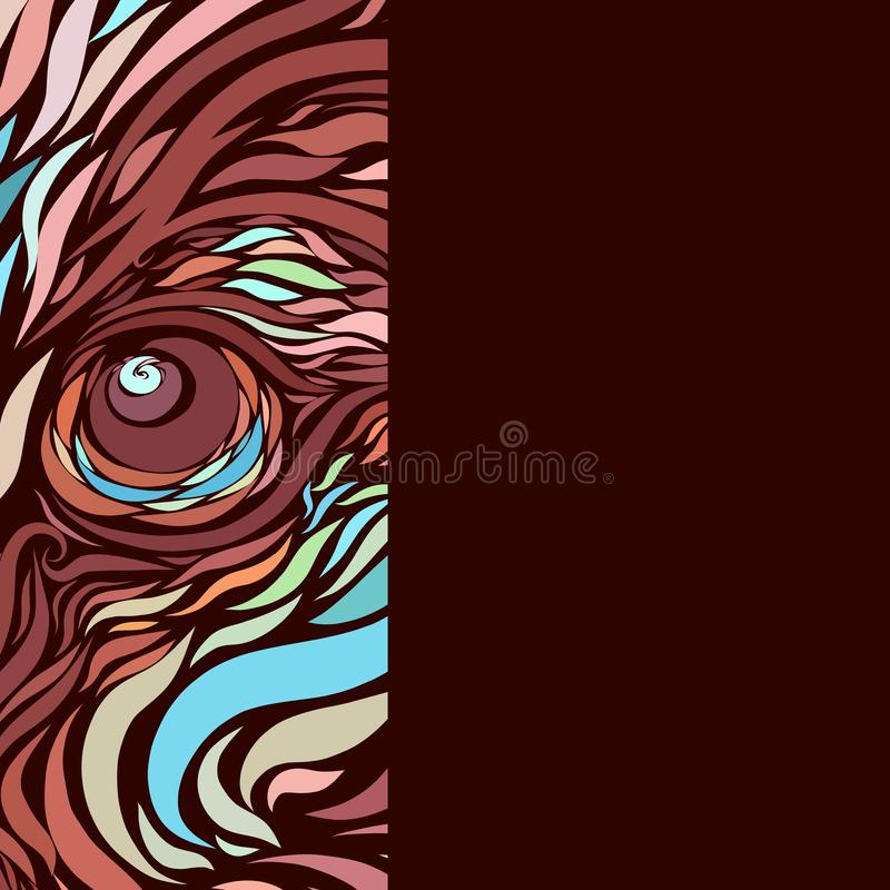 The look of a majestic predatory animal.  vector illustration