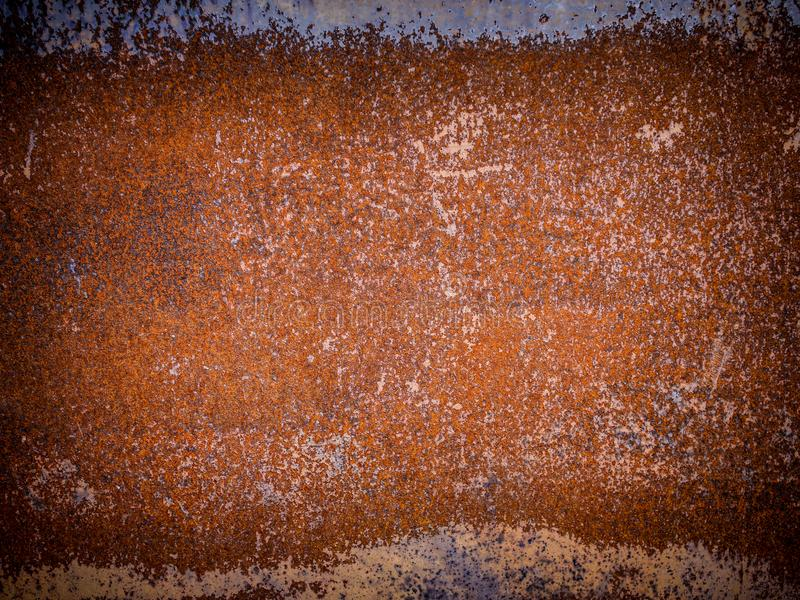 Metal texture with hard rust, abstract grunge backdrop stock images