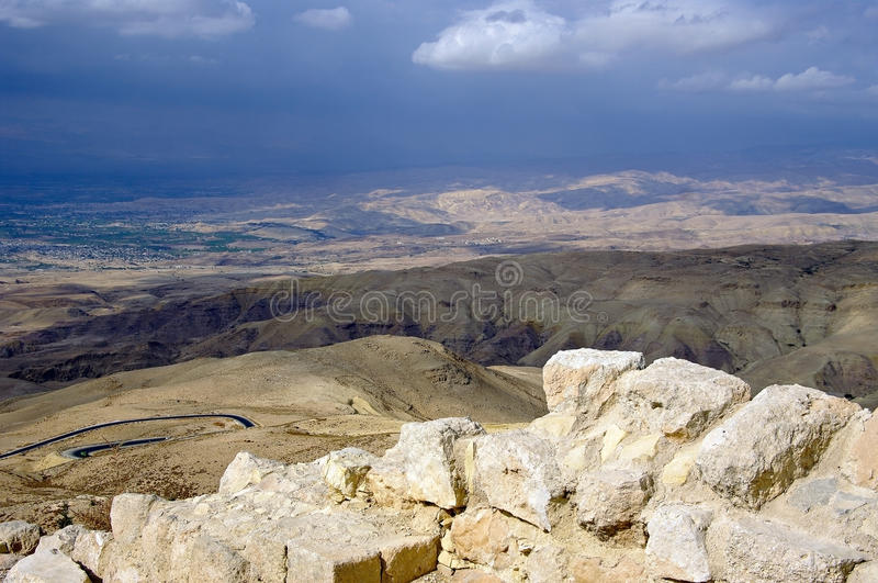 Look from Mount Nebo hill to the valley. stock image