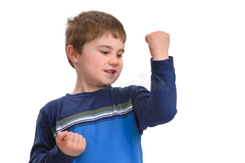 Download Look at these muscles! stock photo. Image of looking, positive - 3035726