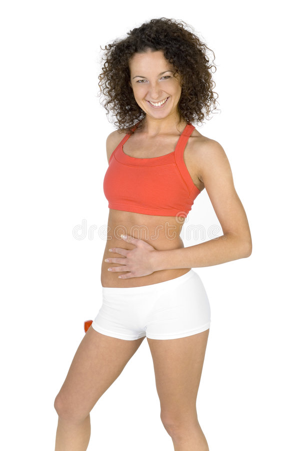 Download Look at my abdomen! stock photo. Image of person, fitness - 3259880