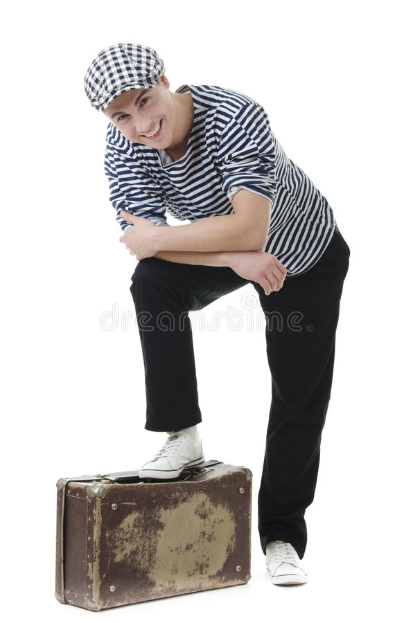 Look naughty and rowdy stylish young man royalty free stock photo