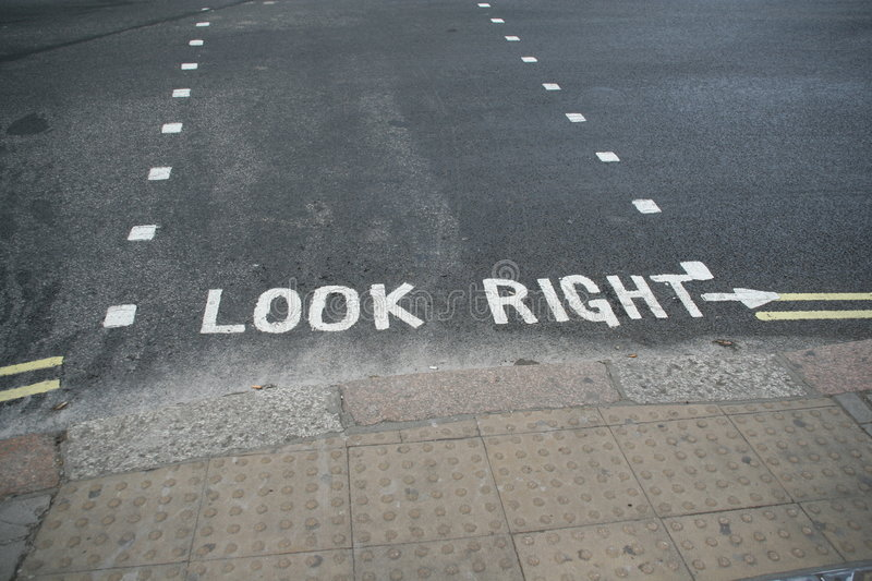 Look Right royalty free stock images
