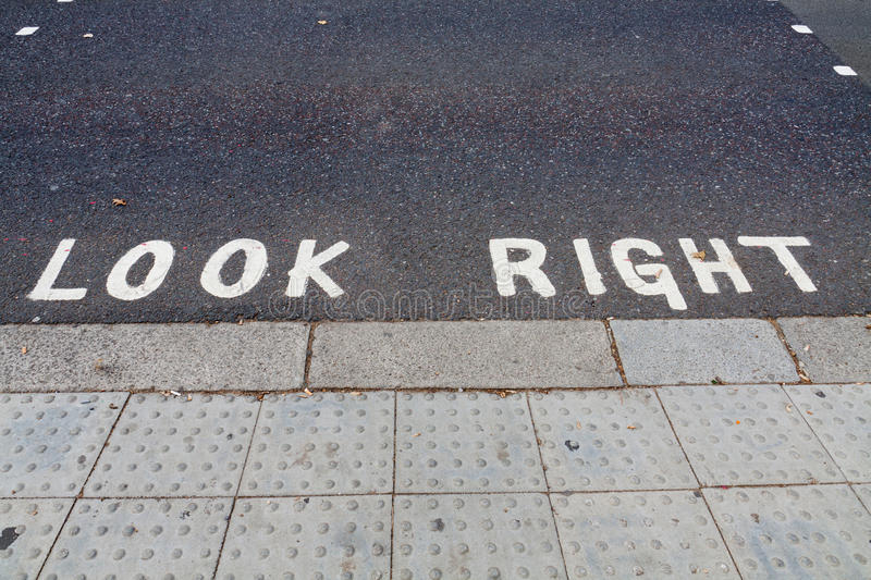 Download Look Right Notice On The Road Stock Photography - Image: 22912512