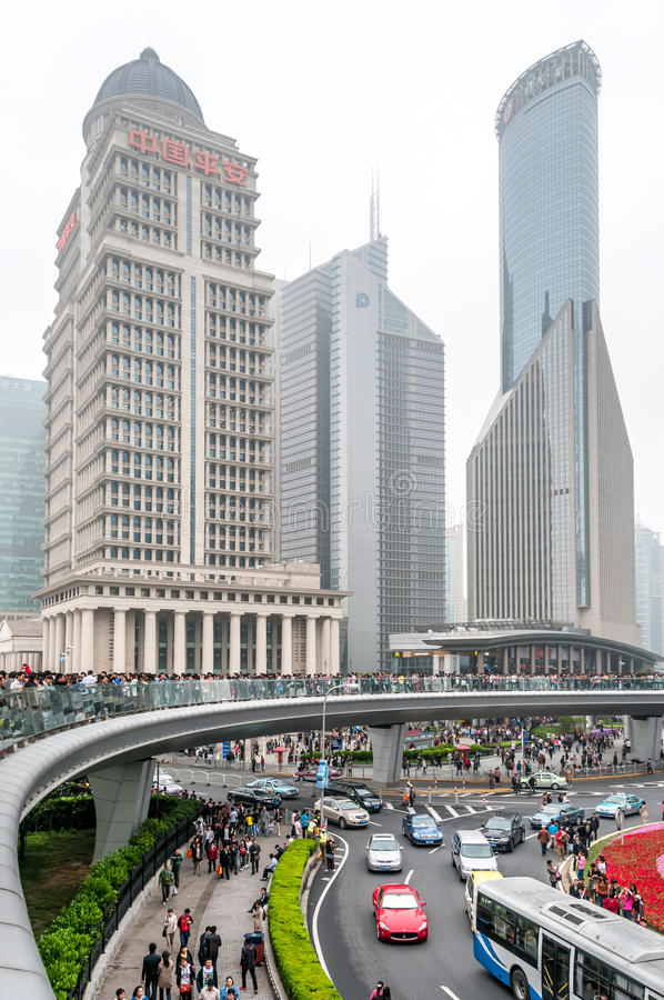 Download Look At The Shanghai Building Editorial Stock Image - Image: 34098324