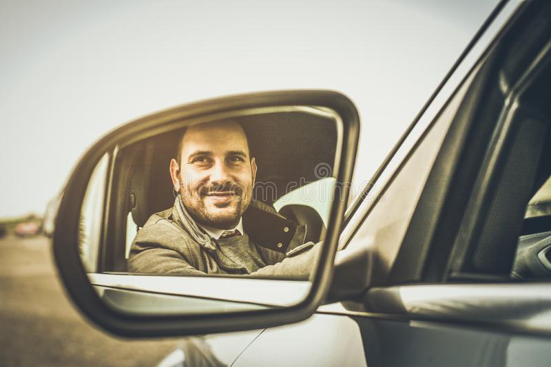 Look and smile to the bright future. stock image