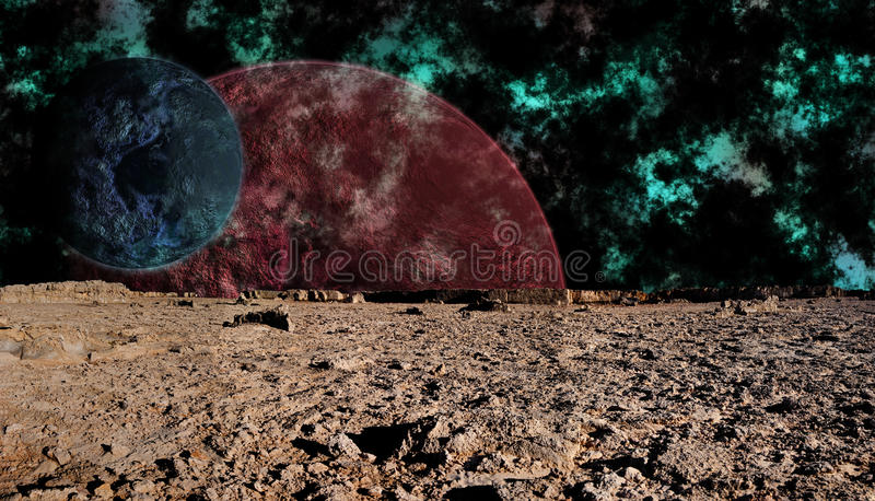 Download Look At Space From The Surface Of The Moon, Futuri Stock Illustration - Image: 9755249