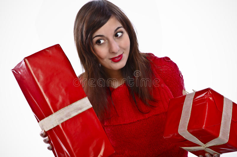 Download Look What I've Got For Christmas! Stock Photo - Image: 11664282