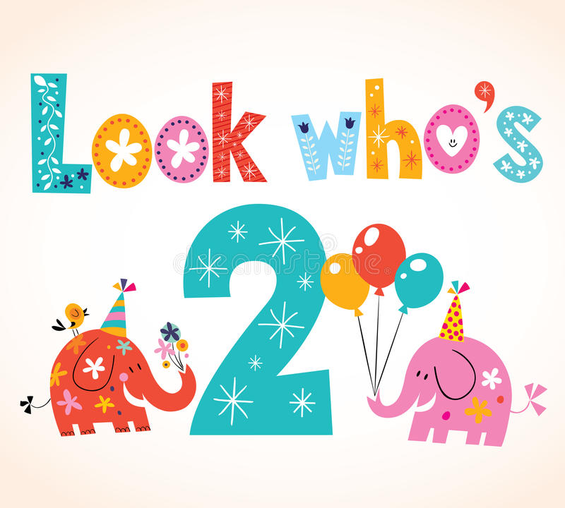 Look whos two second birthday card stock vector illustration of download look whos two second birthday card stock vector illustration of celebration graphics bookmarktalkfo Gallery