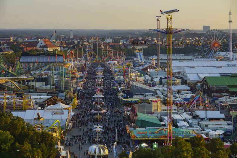 Oktoberfest beer festival in Munich, Germany. Look at the Wiesn, Munich Oktoberfest Beer Festival, Bavaria, Germany royalty free stock images