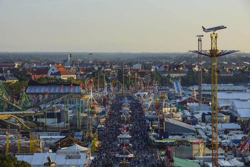 Oktoberfest beer festival in Munich, Germany. Look at the Wiesn, Munich Oktoberfest Beer Festival, Bavaria, Germany royalty free stock photography