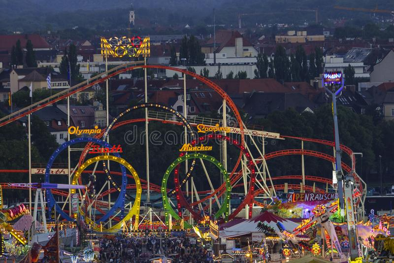 Oktoberfest beer festival in Munich, Germany. Look at the Wiesn, Munich Oktoberfest Beer Festival, Bavaria, Germany, Europe royalty free stock image