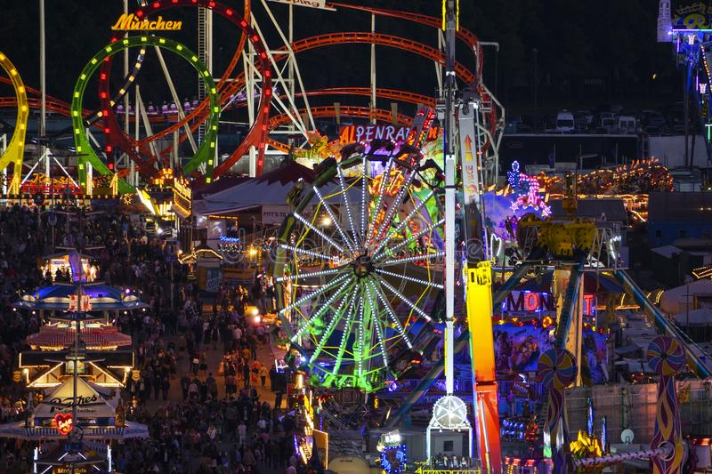 Oktoberfest beer festival in Munich, Germany. Look at the Wiesn, Munich Oktoberfest Beer Festival, Bavaria, Germany, Europe royalty free stock photography