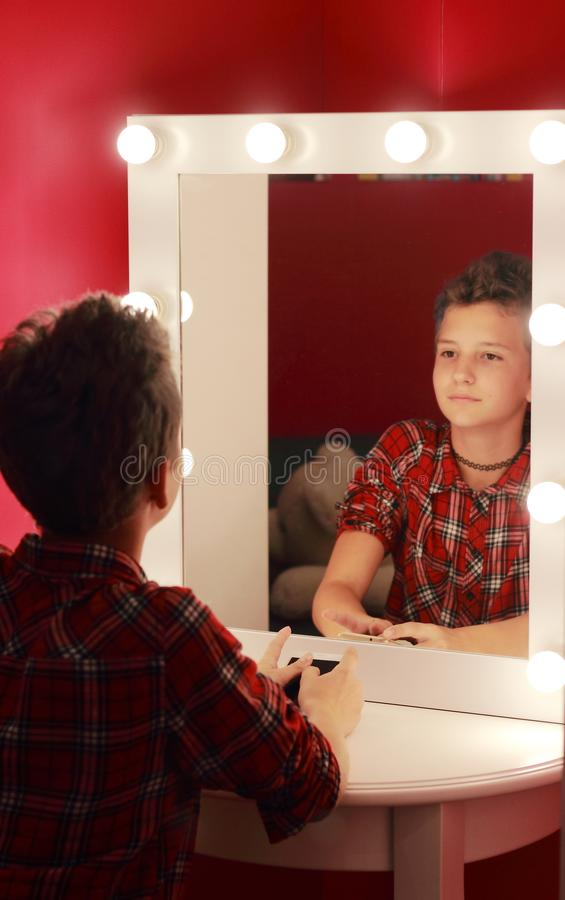 Look at your reflection in the mirror royalty free stock photo