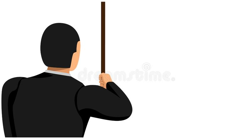 Looked behind a businessman pulling the rope with his hand. business background template vector file design vector illustration