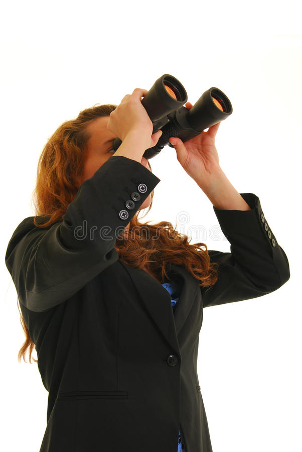 Looking ahead stock image