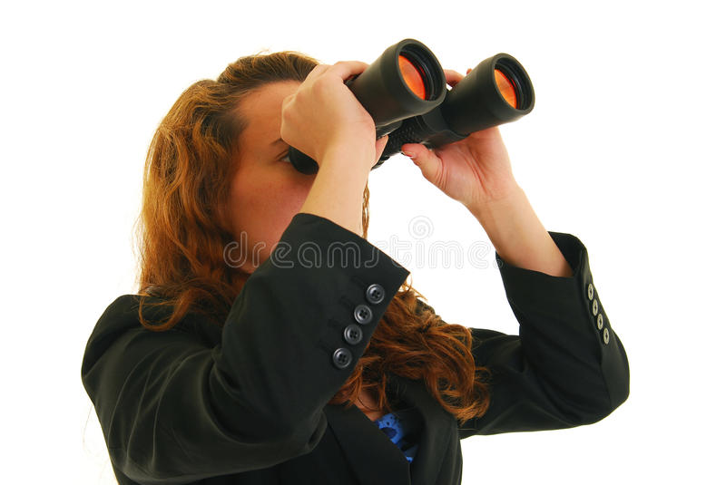 Looking ahead stock photography