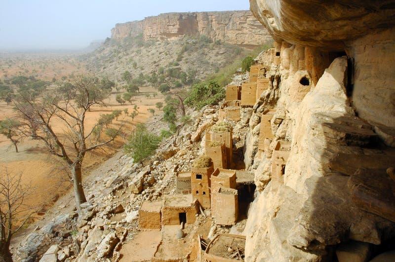 Looking along the Bandiagara clff royalty free stock image
