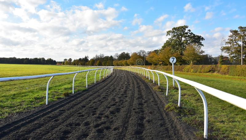 Looking along the practice gallops in Newmarket UK stock image