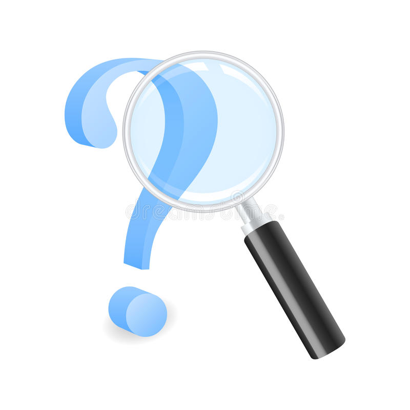 Looking for answer stock illustration