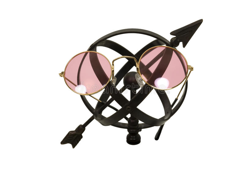 Download Looking For Answers With Rose Colored Glasses Stock Image - Image of measure, arrow: 9616267