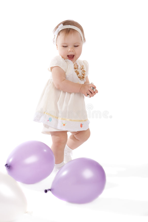 Download Looking at balloons stock photo. Image of amazed, background - 7653790