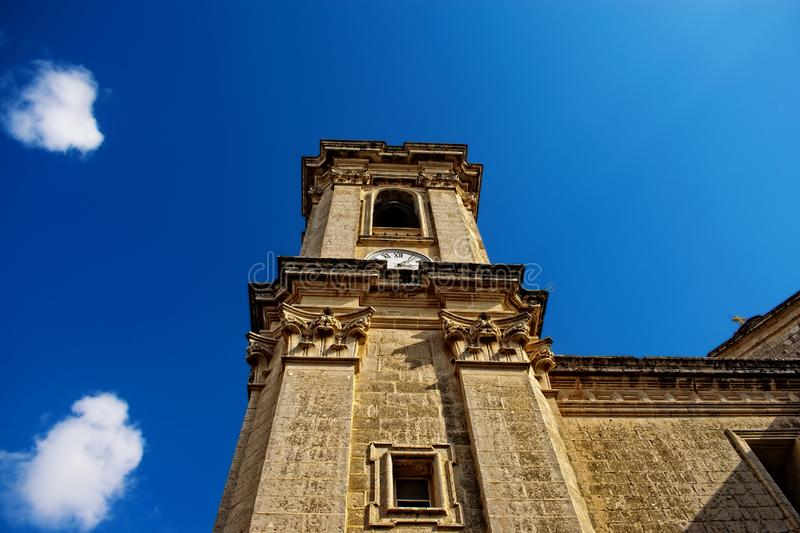 A Belfy of a Church in Attard, Malta. Looking at A Belfy of a Church in Attard, Malta royalty free stock photography
