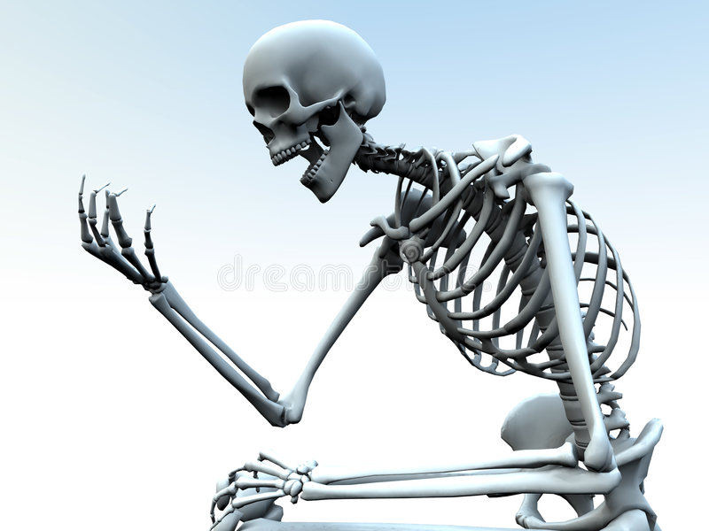 Looking At A Bone Hand Stock Photos