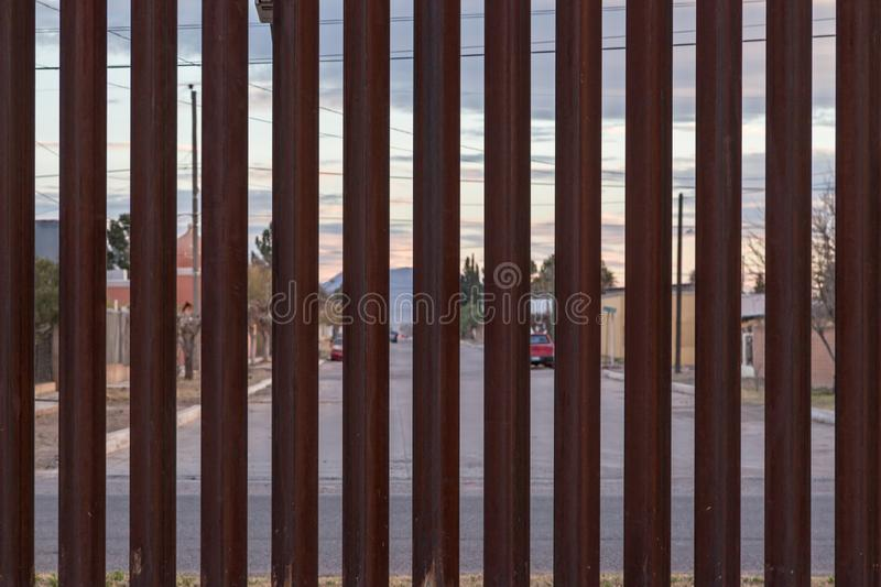 The US Border with Mexico royalty free stock image