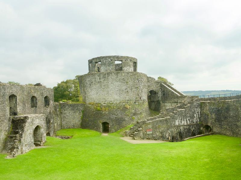 Looking at the castle. Dinefwr Castle near Llandeilo Carmarthenshire Wales united Kingdom royalty free stock image