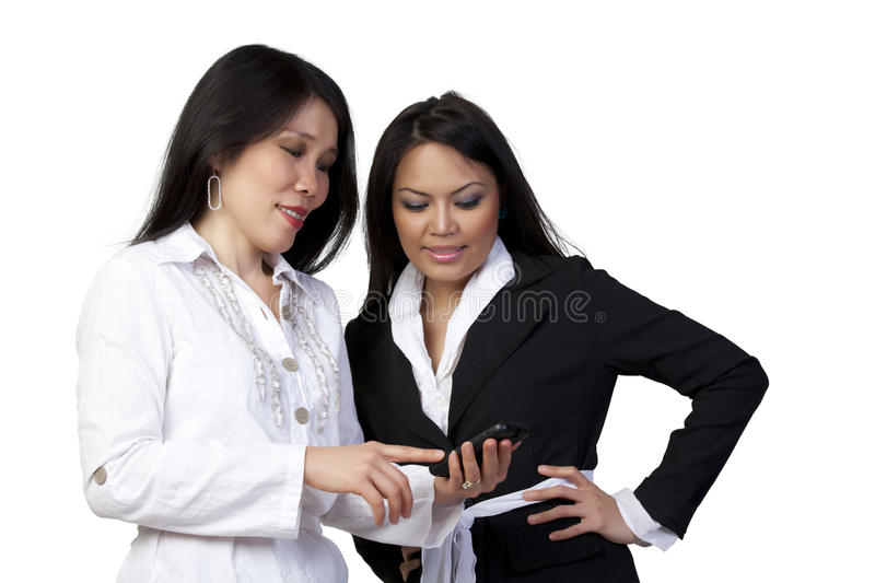 Download Looking at Cell Phone stock image. Image of businesswomen - 21025697