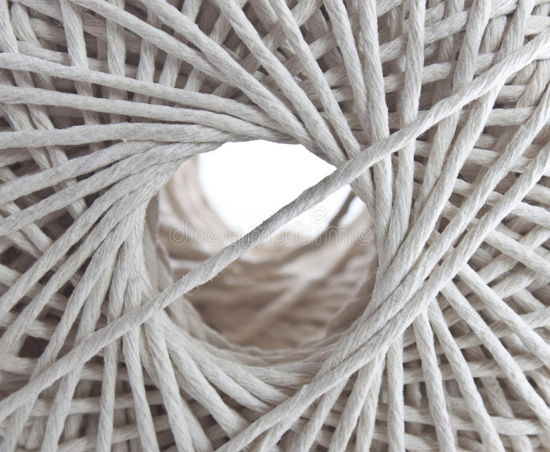 Download Looking Through The Centre Of A Ball Of String Stock Photo - Image: 14857530