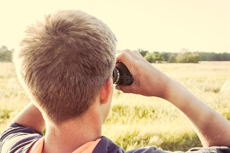 Looking into the distance royalty free stock photography