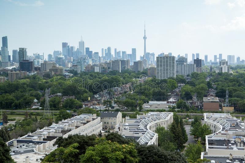 The Annex. Looking down on George Brown College and the Annex neighborhood, toronto, canada stock images