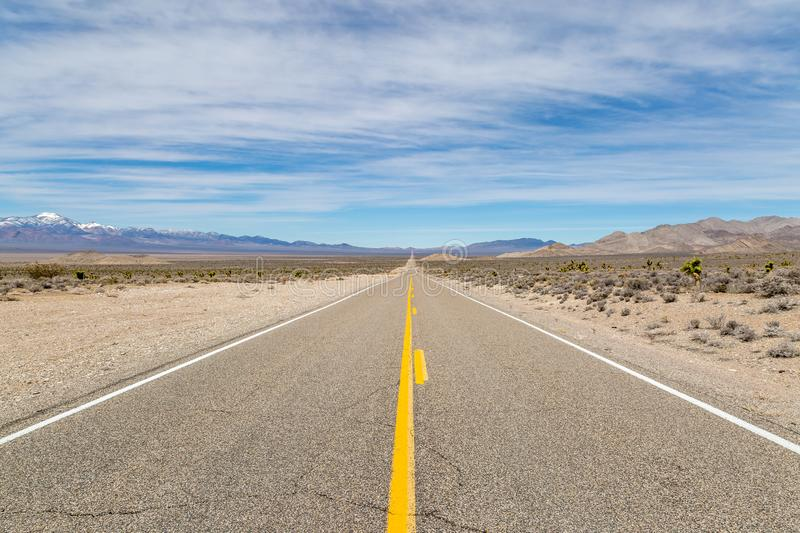 The Extraterrestrial Highway stock image