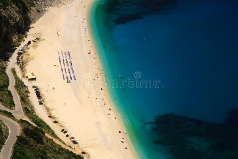 Looking down onto Myrtos beach