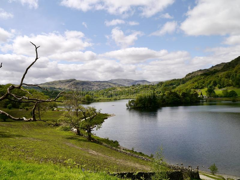 Download Looking Down Path By Rydal Water, Lake District Stock Photo - Image: 33865036