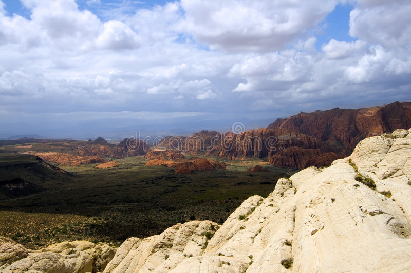 Looking down the Sandstones in to Snow Canyon stock photos