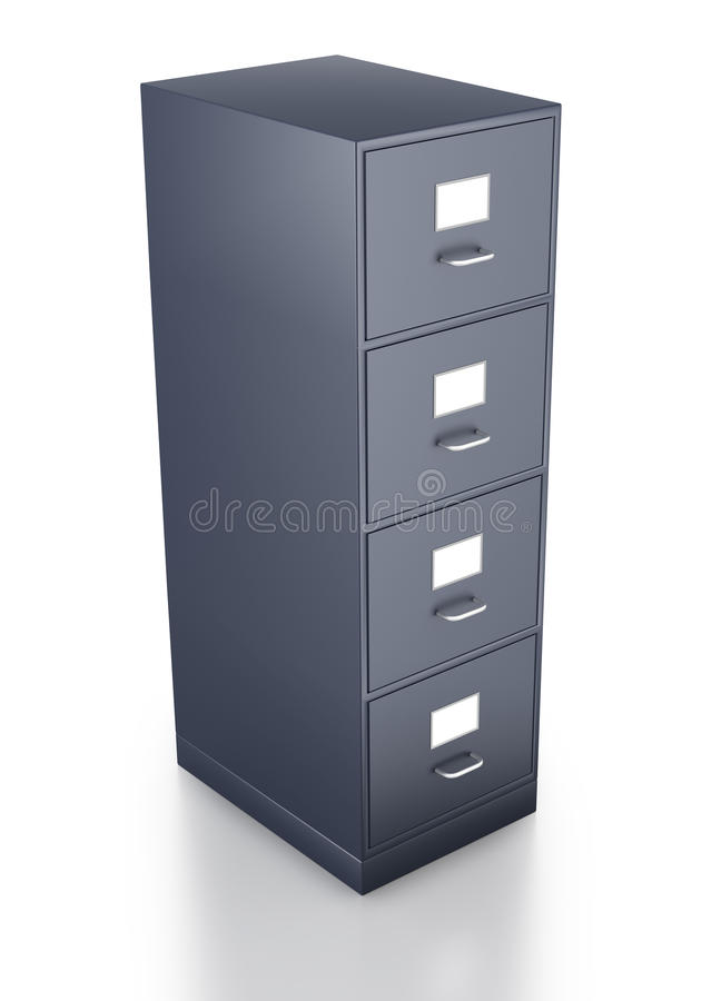 Download Looking Down On Single Grey Filing Cabinet Stock Illustration - Image: 19095946