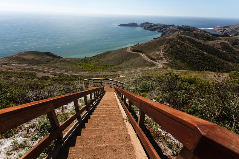 Looking down on the trail to Bonita Point stock image
