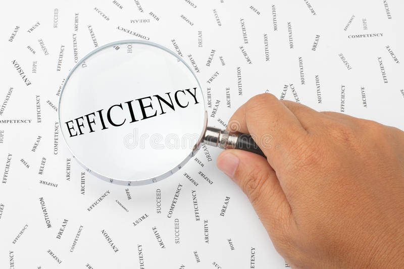 Looking for efficiency. stock photos