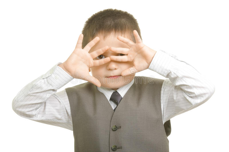 Download Looking through fingers stock image. Image of child, horizontal - 10975145